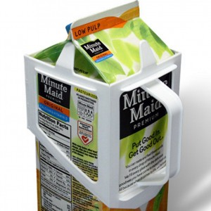 Carton Caddy XL half gallon milk carton handle.